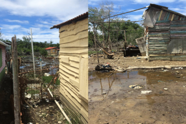 Houses in Zene distroyed by storms